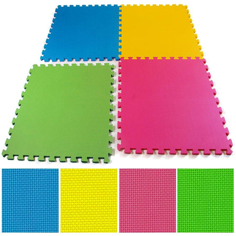 multicolor eva soft foam play area exercise garage floor mats tiles