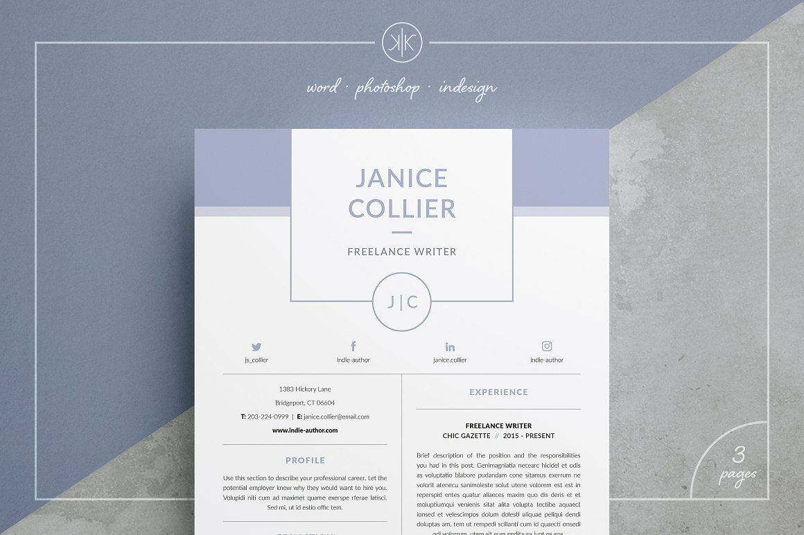 ResumeCv  Janice  Fonts Design Your Own And Creative