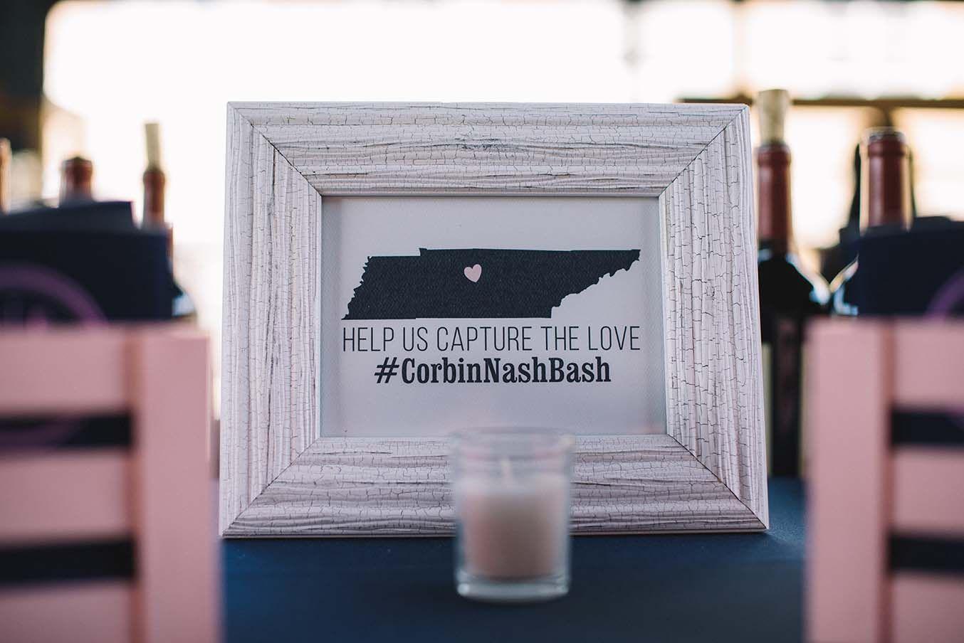 Wedding Hashtag Wedding Ideas Nashville Wedding at The