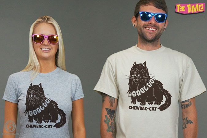 Chewbac Cat T Shirt Tee Time May 19th 2015 6 Dollar