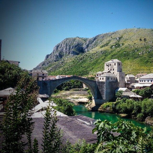 Old bridge area of the old city of Mostar. Rent accommodation on http://www.holidaysaccommodations.com/rentals/BosniaandHerzegovina/bosnia-and-herzegovina #bosnia #neretva #river #travel #holiday