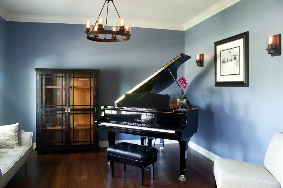 Edison Bulbs Spaces Midcentury Remodeling Ideas With Piano Room Industrial Style Piano Room Grand Piano Room Green Pillows Living Room #piano #in #small #living #room