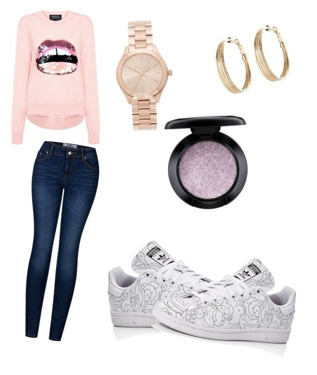 """pretty"" by sarastylesh ❤ liked on Polyvore featuring Michael Kors, Markus Lupfer, 2LUV, adidas, Avenue and MAC Cosmetics"