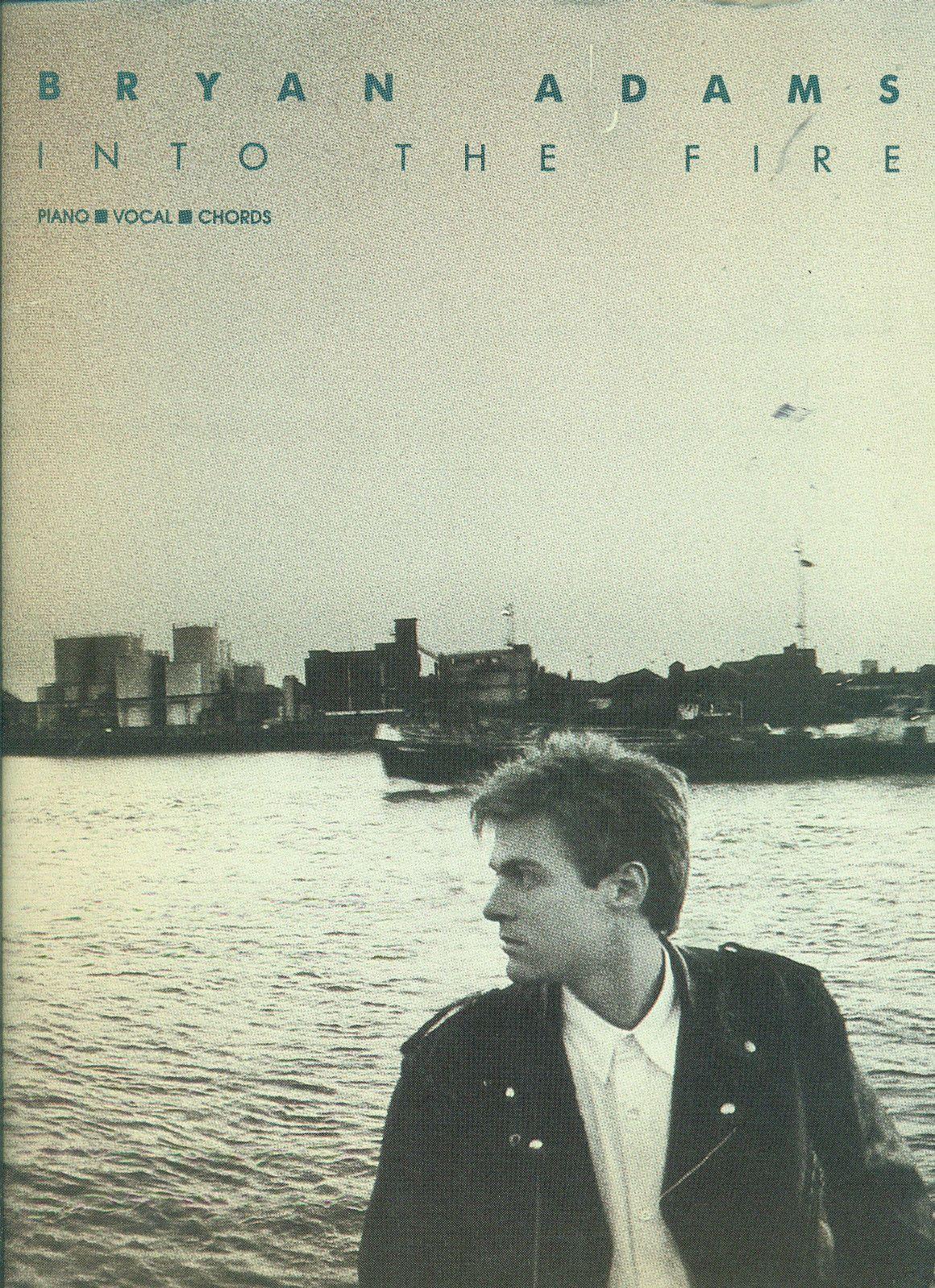 Bryan Adams Into The Fire Pianovocalguitar Chords Music Book Brand