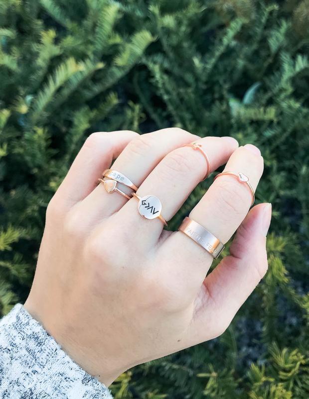 Faith over Fear Matte Rose Gold Ring
