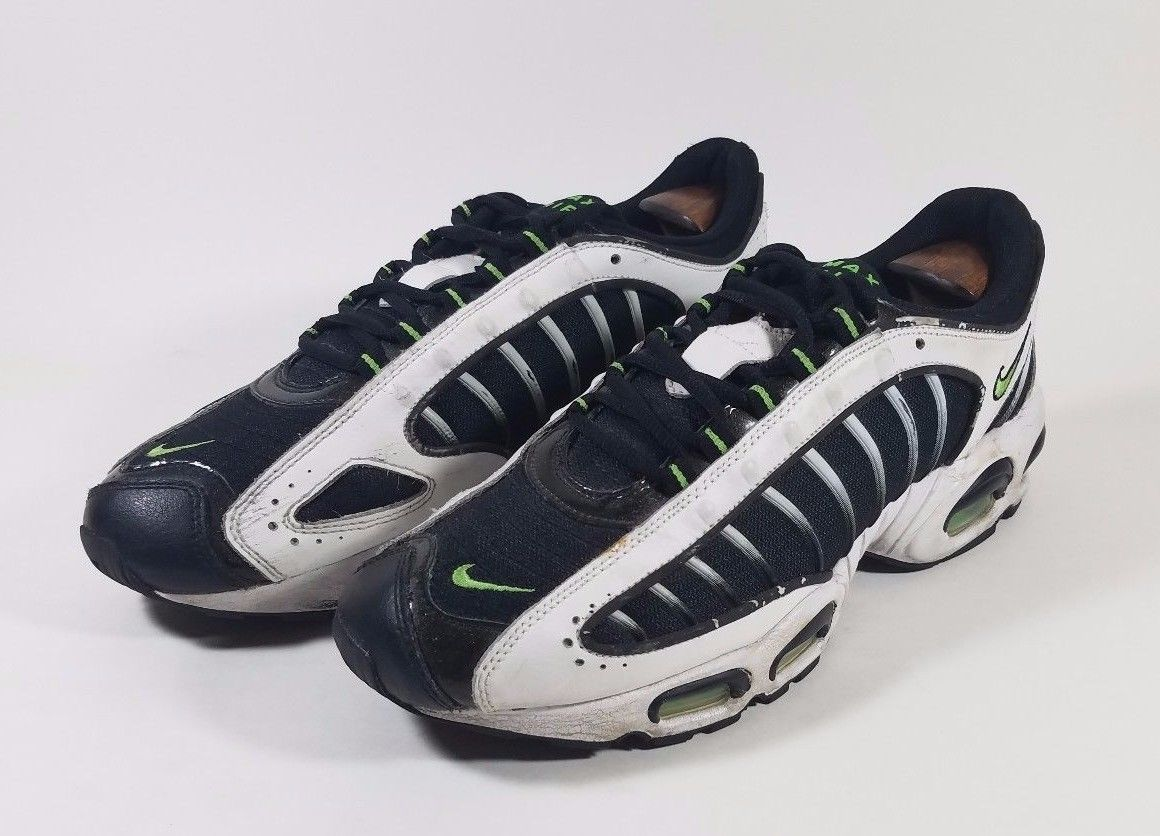 63b732d08a ... Nike Air Max Tailwind IV 4 White Green Black Basketball Shoes Sz 10  309306-132 ...