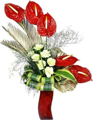 Anthurium Flower Arrangements Online Bouquet World Flower Arrangements Anthurium Flower Church Flower Arrangements