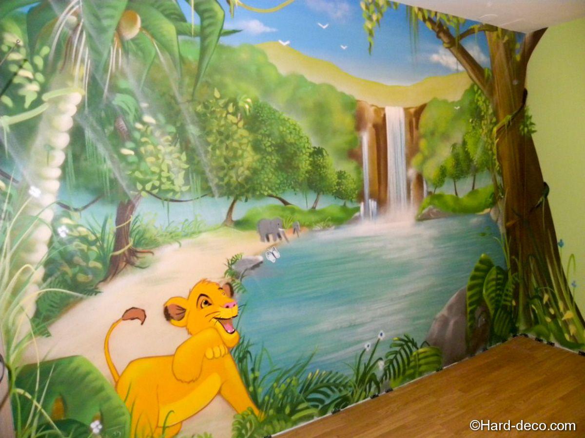 Décoration murale Roi lion - Hard Deco  Déco chambre jungle
