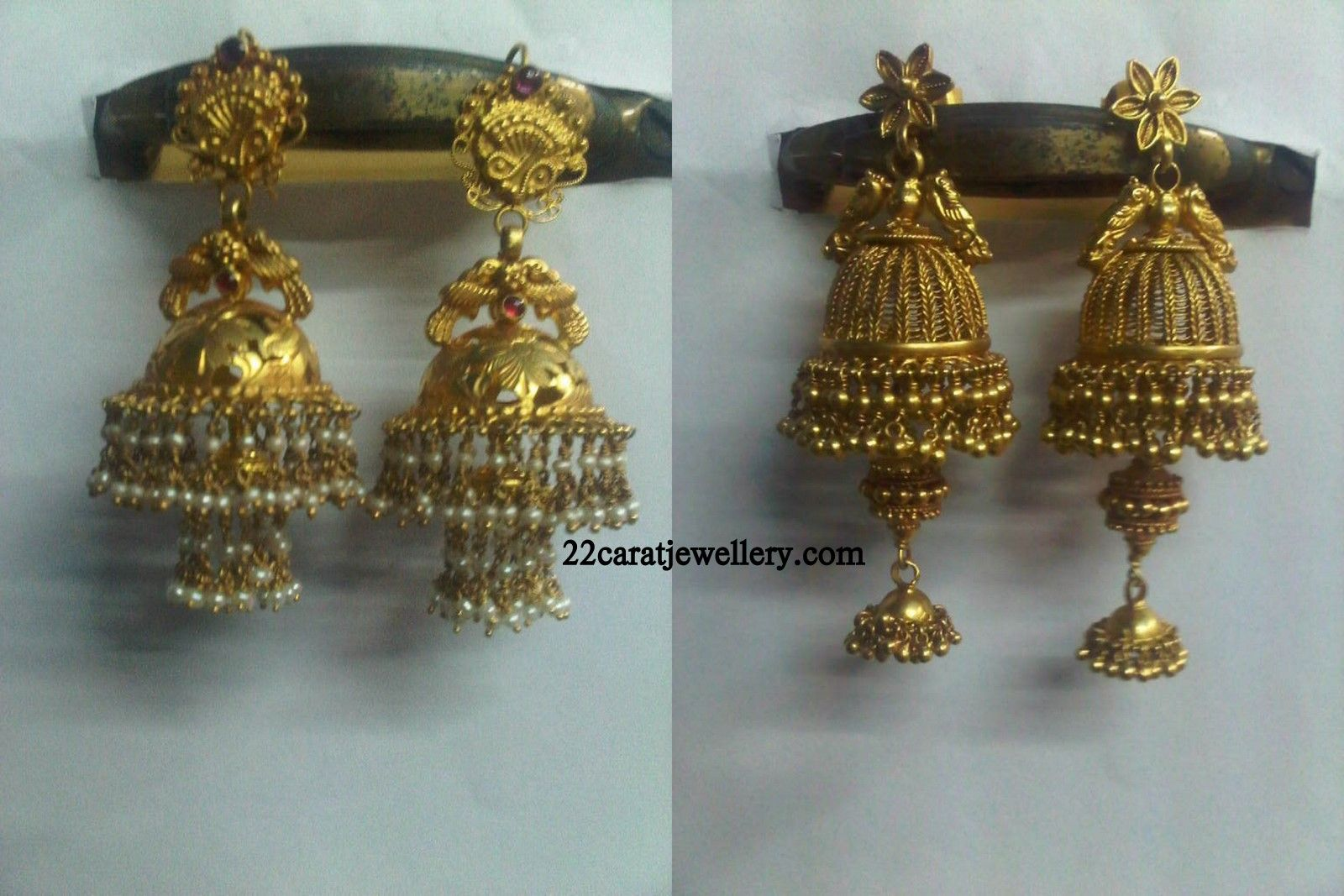 Traditional Gold Nakshi Jumkas (earrings) Gallery | Traditional ...