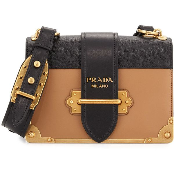 b285abbd7c94 Prada Cahier Notebook Shoulder Bag (€2.420) ❤ liked on Polyvore featuring  bags