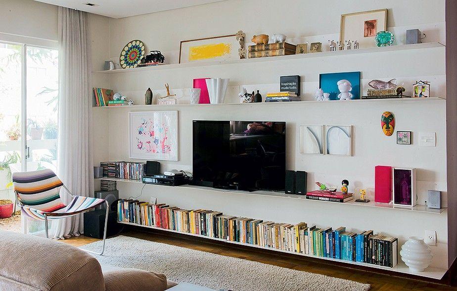 Dicas para decorar sem gastar muito I like Pinterest Living - einrichtungsdeen fur hausbibliothek bucherwand