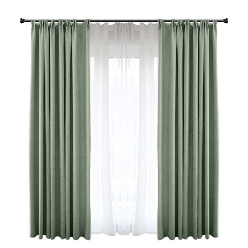 Solid Green Blackout Curtain Modern Simple Curtain Living Room Bedroom Fabric One Panel Blue Blackout Curtains Simple Curtains Living Room Decor Curtains