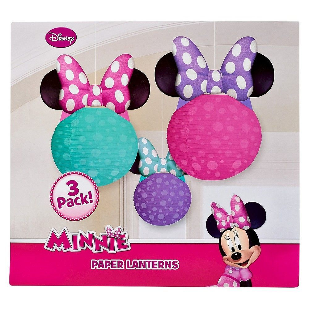 Minnie Mouse Paper Lantern 3 Count,