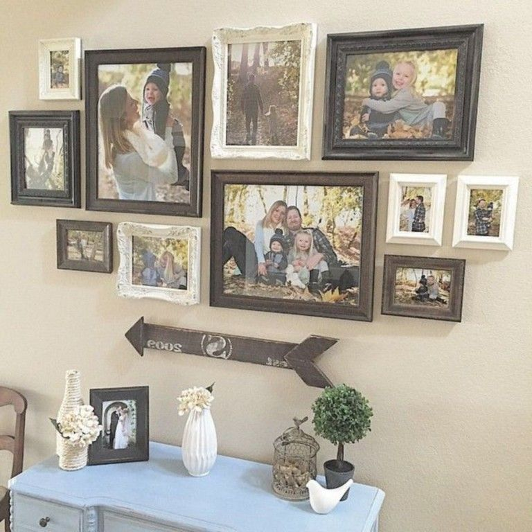 39 Fancy Wall Gallery Ideas For Your Living Room Frame Wall Collage Rustic Gallery Wall Family Pictures On Wall
