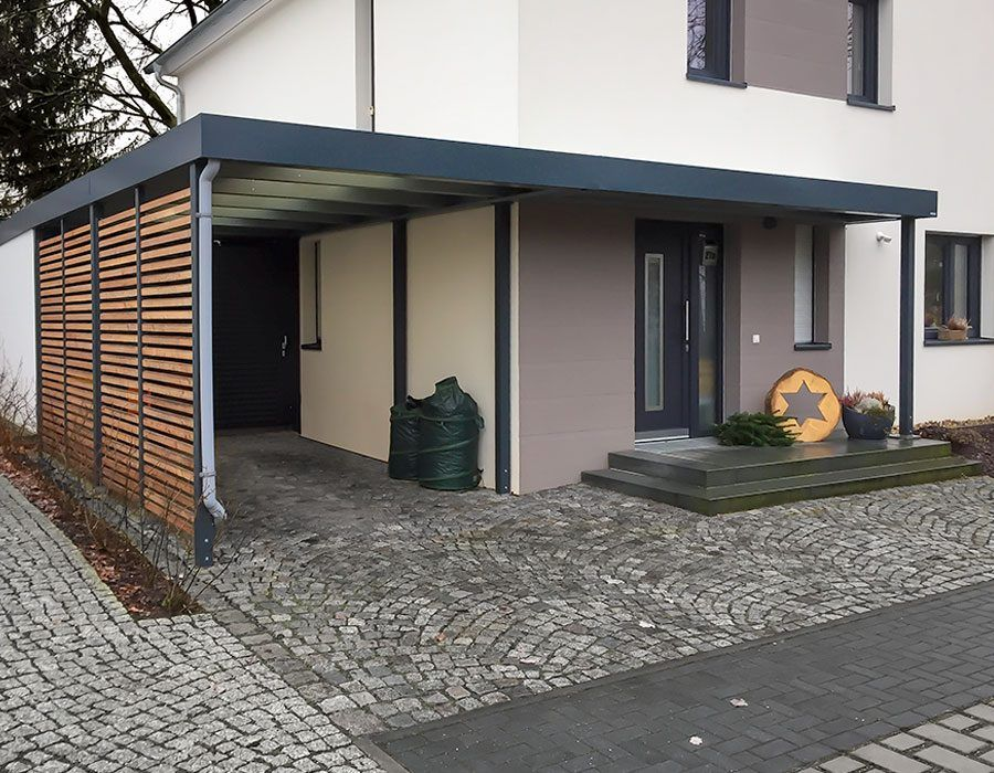 carport mit eingangs berdachung von siebau garten pinterest. Black Bedroom Furniture Sets. Home Design Ideas