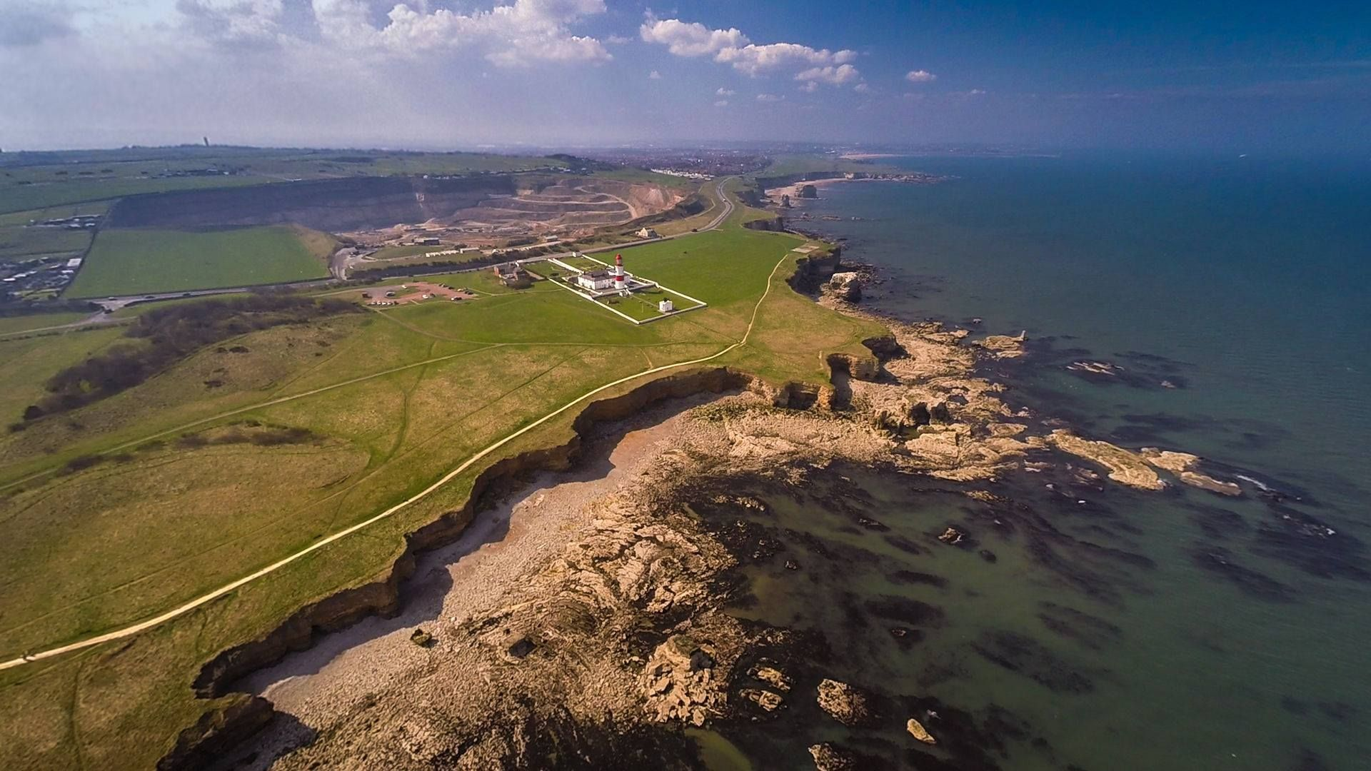 Souter Lighthouse, Marsden Quarry and The Leas. | Shore in ...