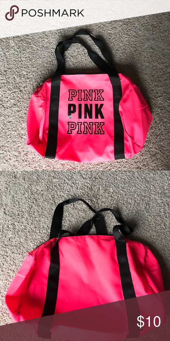 Shop Women s Pink size OS Travel Bags at a discounted price at Poshmark.  Description  Pink VS Gum Duffle, never used, very cute! 00c3a45dfd