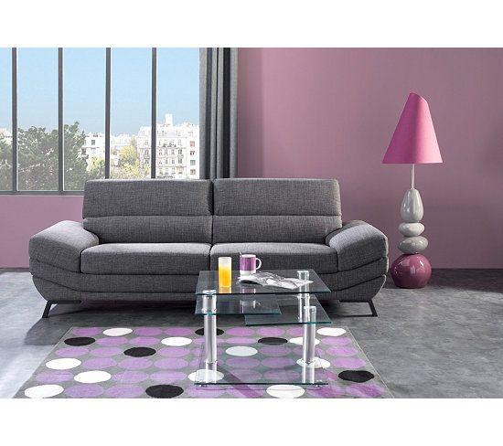 canap 3 places mathis tissu gris fonc catalogue meubles d co peinture pinterest canap 3. Black Bedroom Furniture Sets. Home Design Ideas