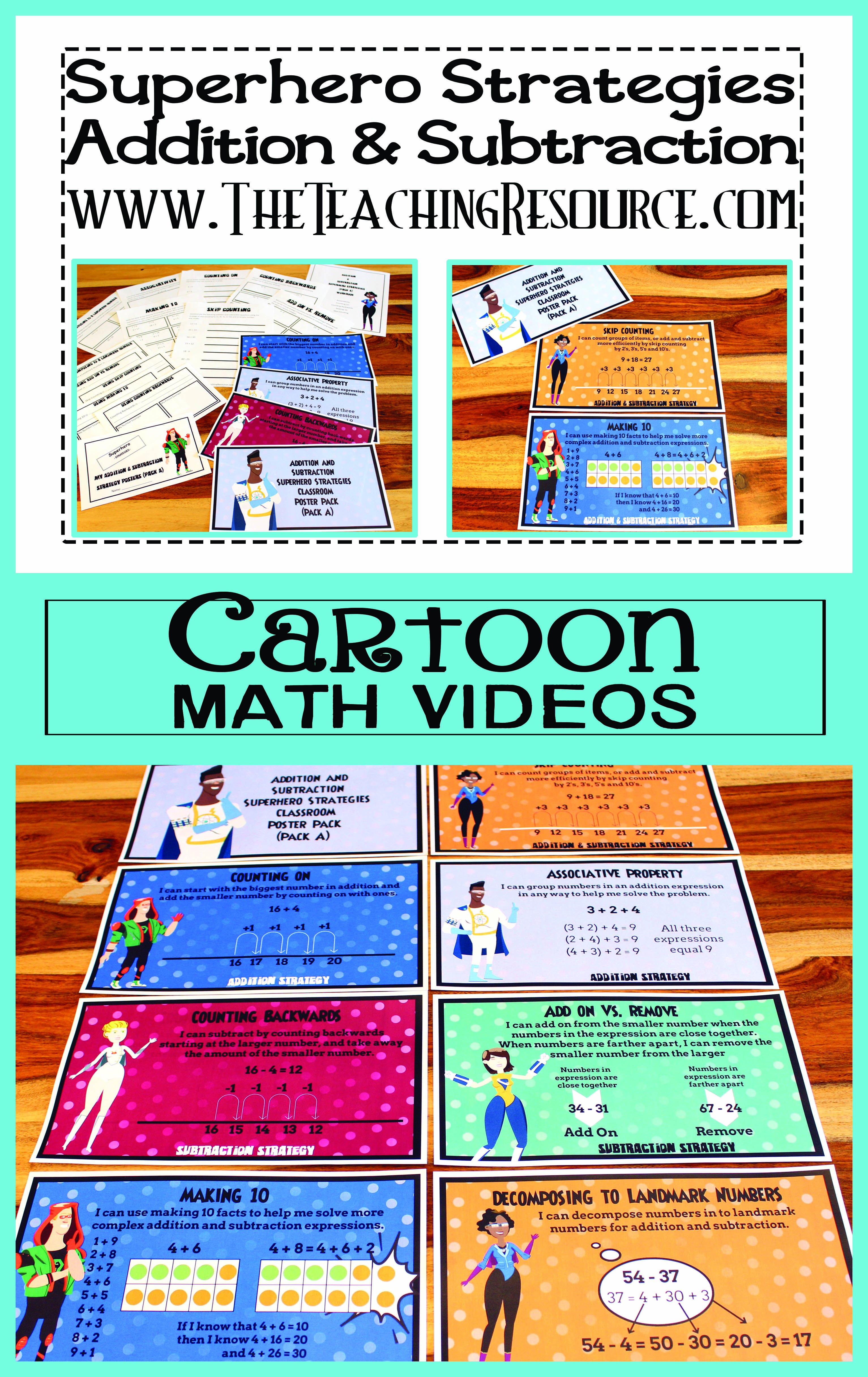 Addition And Subtraction Strategy Cartoon Video Series