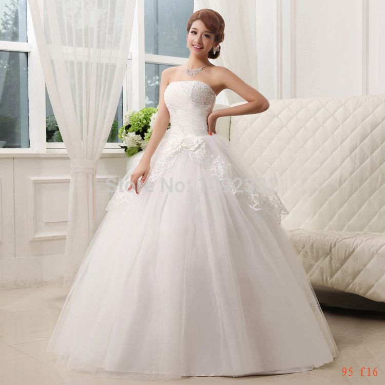Click to Buy << z 2016 new stock plus size women bridal gown wedding ...