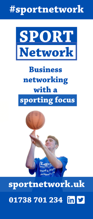 The artwork created to go on our Sport Network roller banner which helps promote our events.