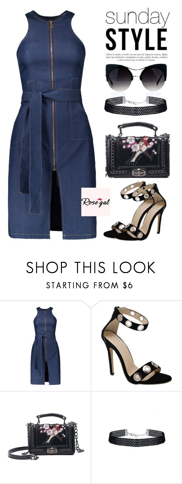 """""""ROSEGAL I / 21"""" by anja-jovanovich ❤ liked on Polyvore featuring Sinclair"""