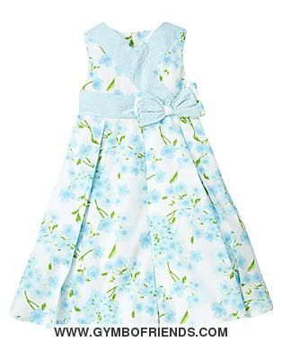 Gymboree - Spring Celebrations - Blossom & Gingham Bow Dress...would like to sew something like this...