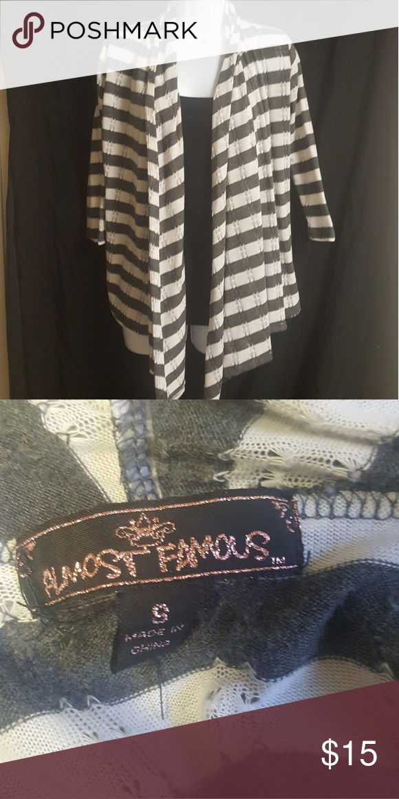 Cardigan Size Small Great condition. Size Small. *Black top underneath for show* Almost Famous Sweaters Cardigans