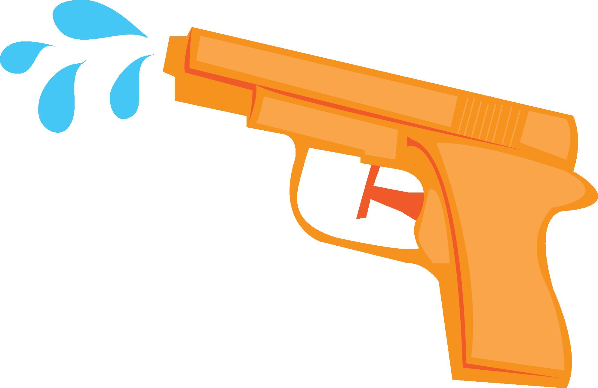 Jwi Watertoys Watergun Orange Png Beach Printables Water Toys Guns Illustration