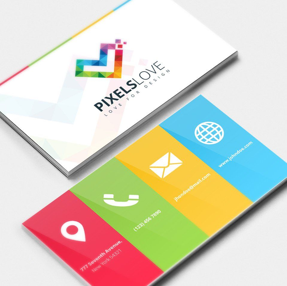Colored business card psd graphics pinterest colored business card psd reheart Images