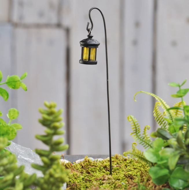 The Most Basic Lighting Source In A Fairy Garden   A Woodland Lantern And A  Shepherdu0027s Hook! This Item Is Necessary In Any Fair Garden!