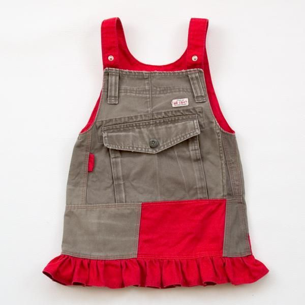 Free sewing pattern: Recycle cargo pants into a toddler skirt