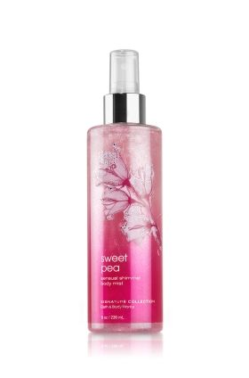 Bath and Body Works Sweet Pea Shimmer Mist