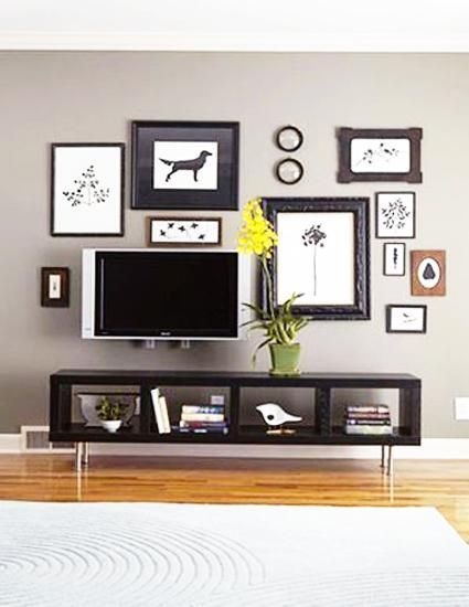 20 Attractive Home Decorating Ideas to Hide Living Room TV Hide tv