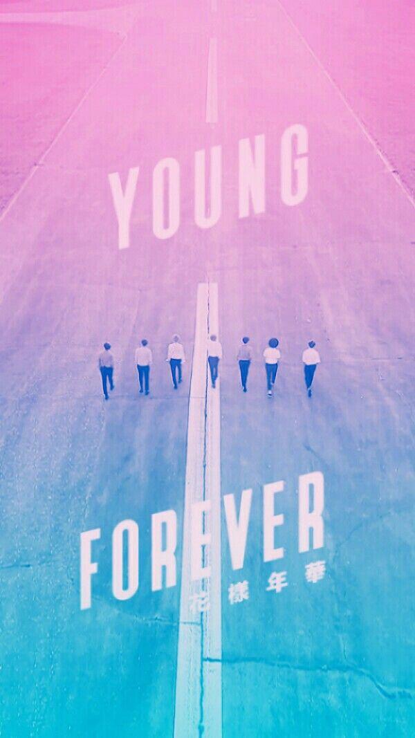 Fond D Ecran Bts Young Forever Degrade Bleu Rose Fond D Ecran Bts Bts Fond Ecran