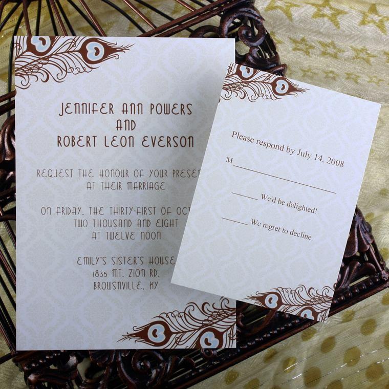 cheap peacock wedding invitations online at elegantweddinginvites