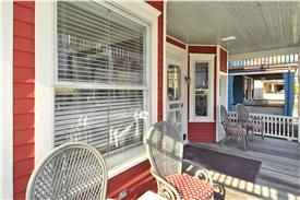 22 Jackson St, Cape May, NJ  08204  Red Cottage Porch