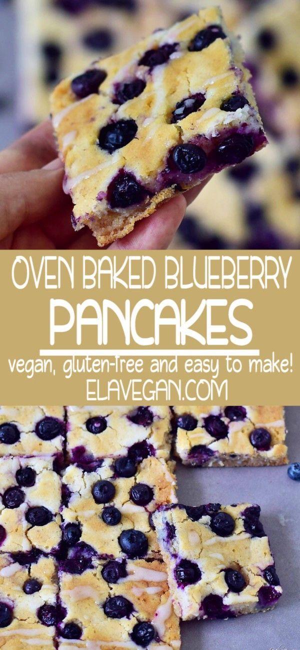 Oven-Baked Blueberry Sheet Pan Pancakes