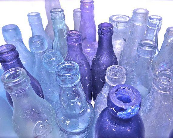 Still Life Photography, Old Bottle Photography, Kitchen Art, Rustic Art, Lavender Bottles, Purple Art, Shabby Chic Art, Flea Market Art