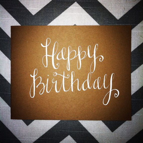 Sweet sayings handwritten note card happy birthday