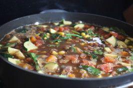 Southwestern Vegetarian Lentil Soup. Photo by Leggy Peggy