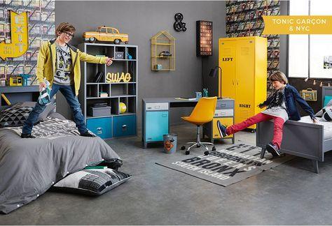D co chambre gar on styles inspiration maisons du - Peinture chambre ado new york ...
