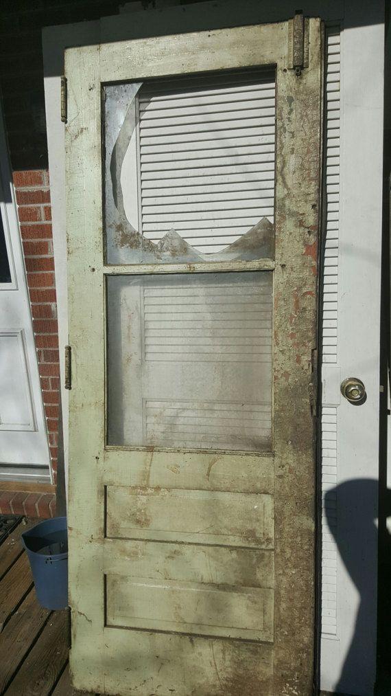 Antique Wood Door Industrial Salvage Architectural Salvage Etsy In 2020 Wood Doors Architectural Salvage How To Antique Wood