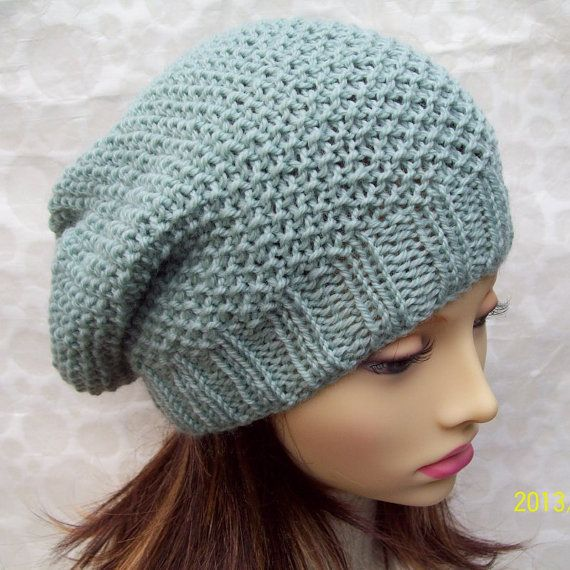 KNITTING PATTERN for ROXANNE Womans Slouchy Hat in Textured Seed ...