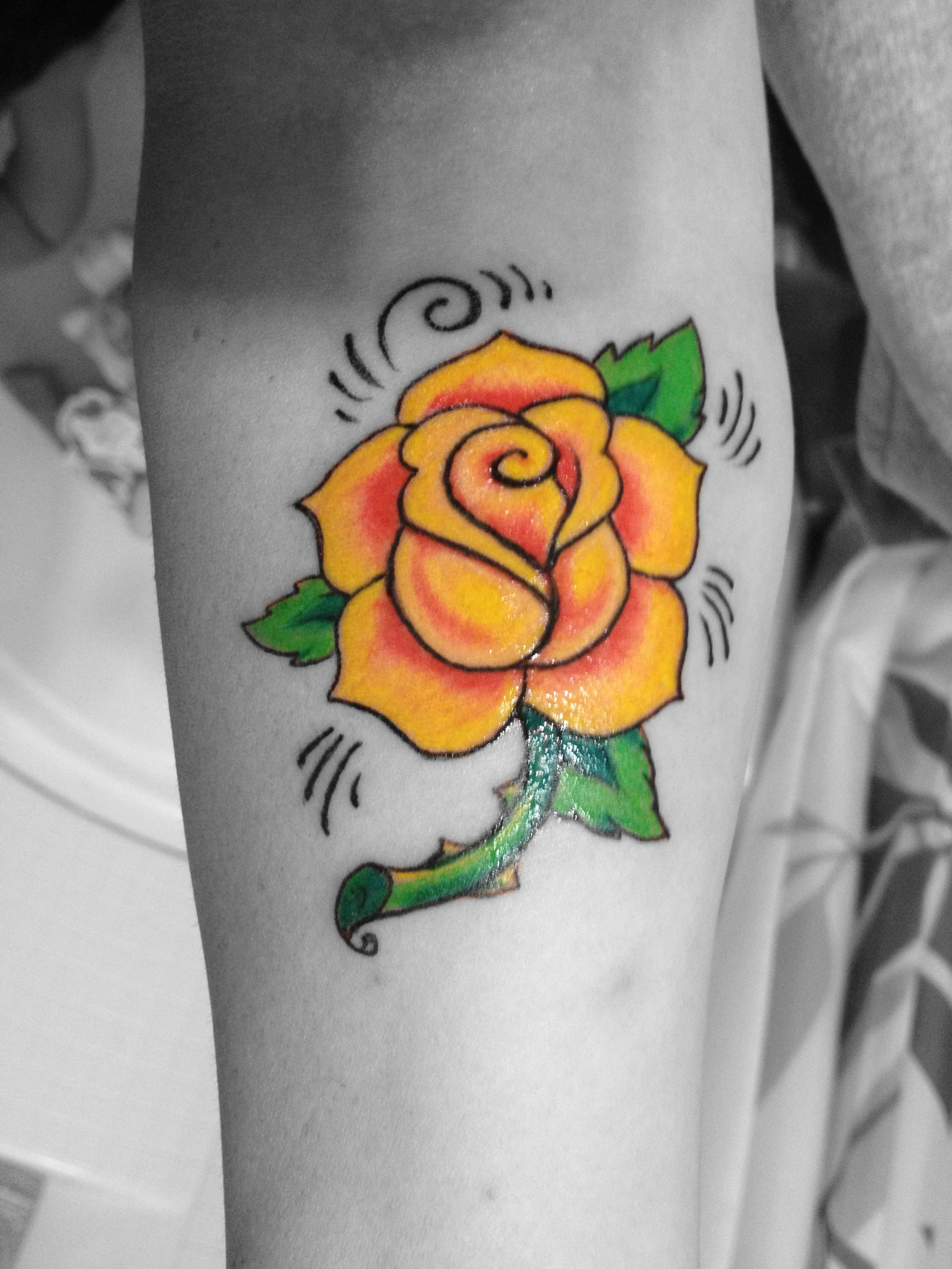 Yellow rose memorial tattoo for my mommy   Life I Love   Pinterest ...