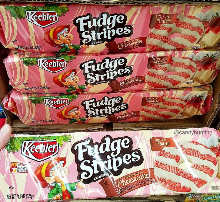 Keebler Fudge Stripes Strawberry Cheesecake Cookies