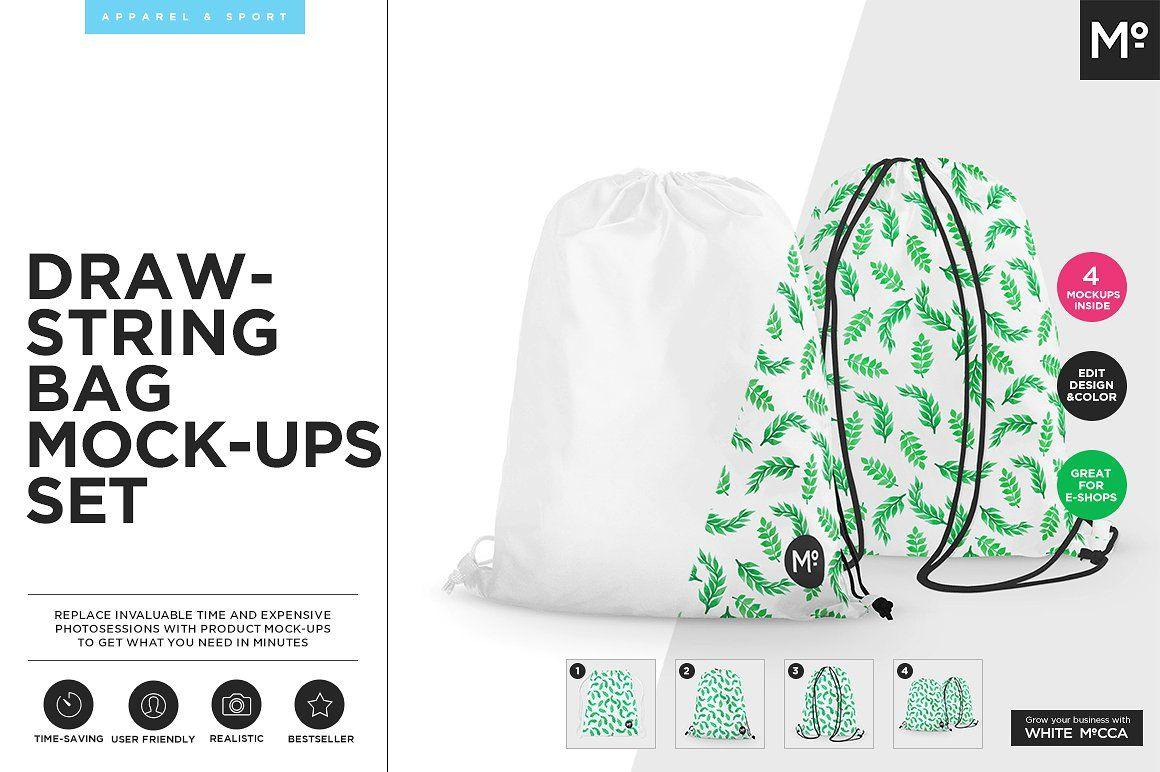 Download Drawstring Bag Mock Up Mockup Wellness Design Mocking