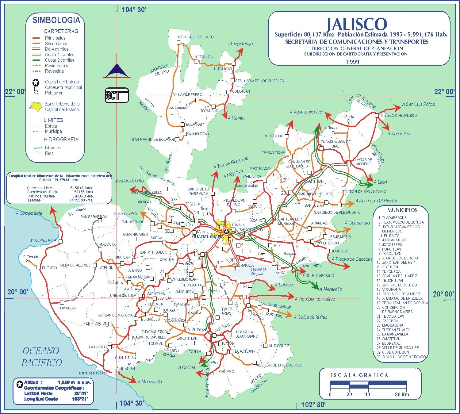 Mapa de carreteras de Jalisco 2 Trading Spaces