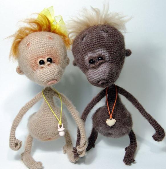 084 Baby monkey - Amigurumi Crochet Pattern PDF file by Pertseva ...