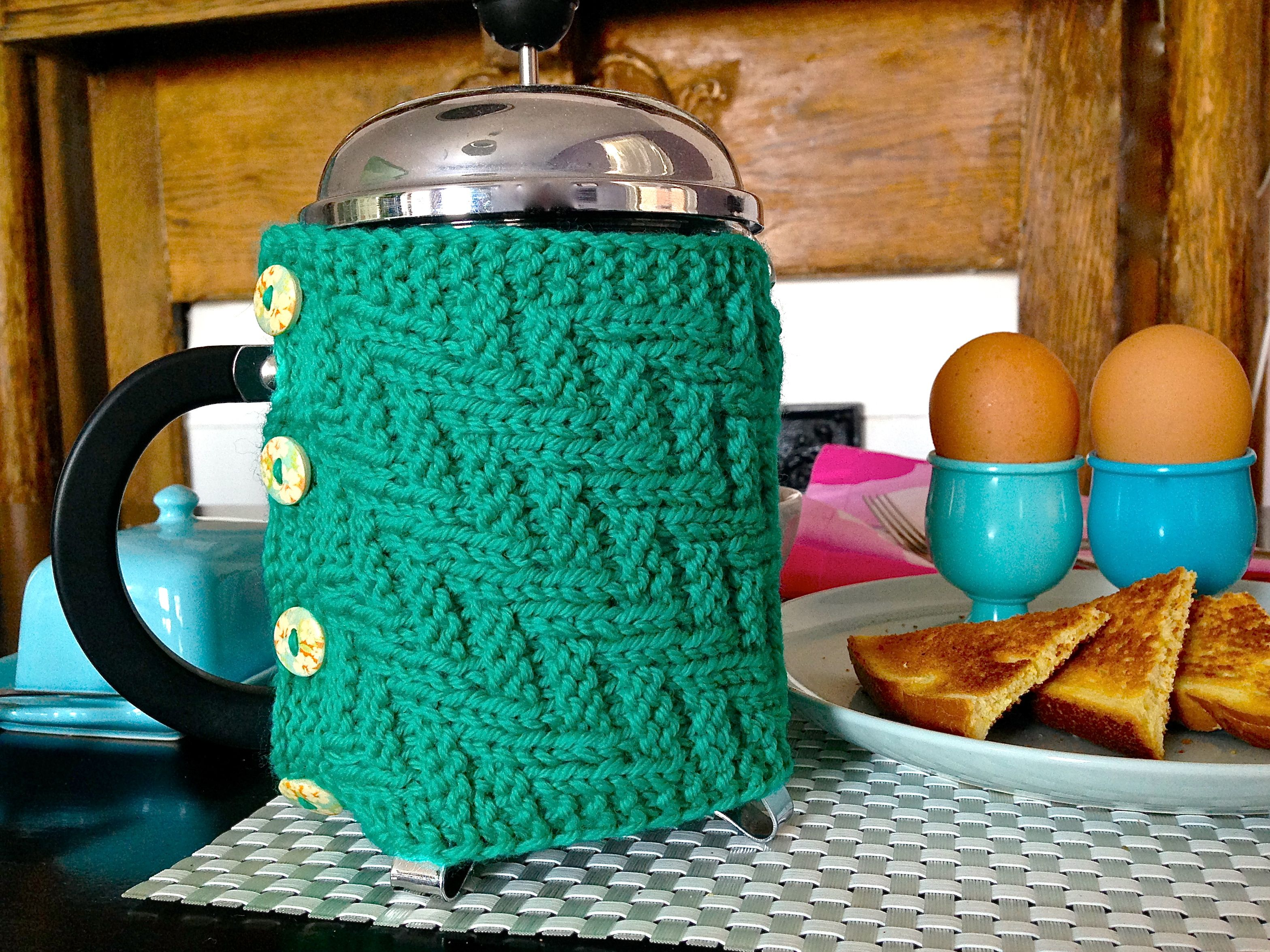 French Press cozy | Knit stitches | Pinterest | French press, Cozy ...